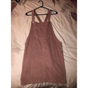 ASOS Corduroy Light Pink Overall Dress